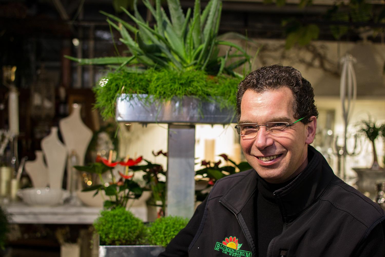 Christian Hoppe vom Blumen-Zentrum Hoppe in Uelzen